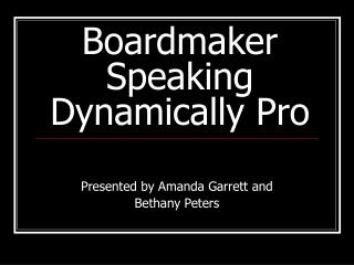 Boardmaker  Speaking Dynamically Pro