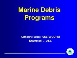 Marine Debris Programs