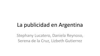 La publicidad en Argentina