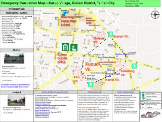 Emergency Evacuation Map—Xucuo Village, Guiren District, Tainan City