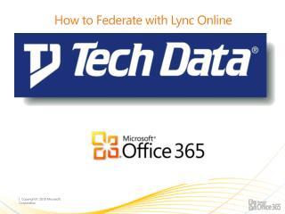 How to Federate with Lync Online