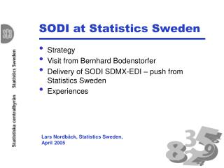 sodi at statistics sweden