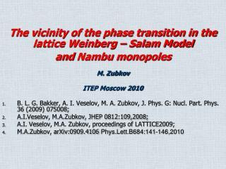 M. Zubkov ITEP Moscow 2010