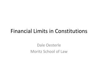 Financial Limits in Constitutions
