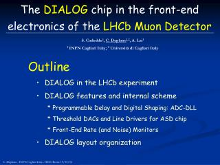 The  DIALOG  chip in the front-end electronics of the  LHCb Muon Detector