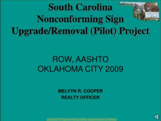 ROW, AASHTO  OKLAHOMA CITY 2009