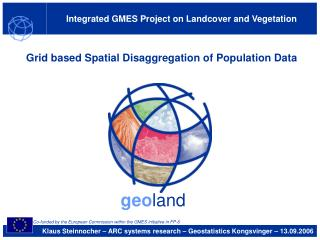 Integrated GMES Project on Landcover and Vegetation
