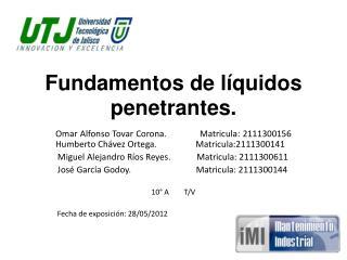 Fundamentos de líquidos penetrantes.