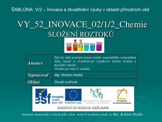 VY_52_INOVACE_02/1/2_Chemie