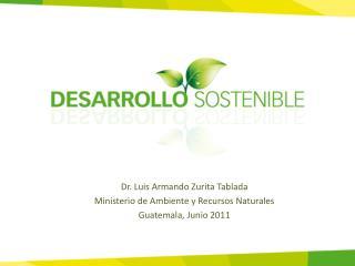 Dr. Luis Armando Zurita Tablada Ministerio de Ambiente y Recursos Naturales Guatemala, Junio 2011
