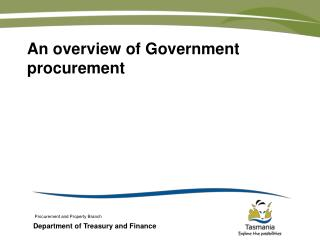 An overview of Government procurement