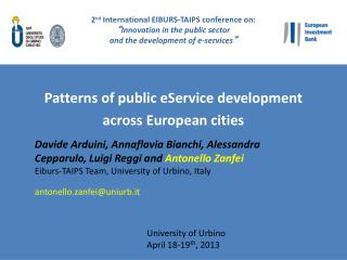 Patterns of public eService development  across European cities