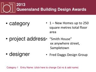 category project address designer
