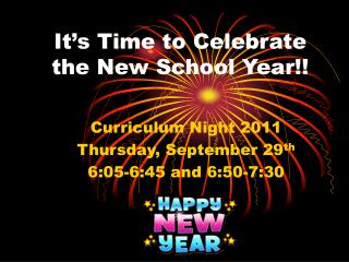 It's Time to Celebrate the New School Year!!