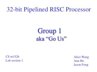 32-bit Pipelined RISC Processor