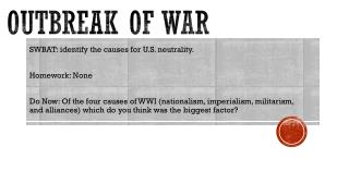 Outbreak of War