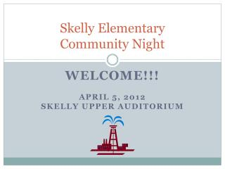 Skelly Elementary  Community Night