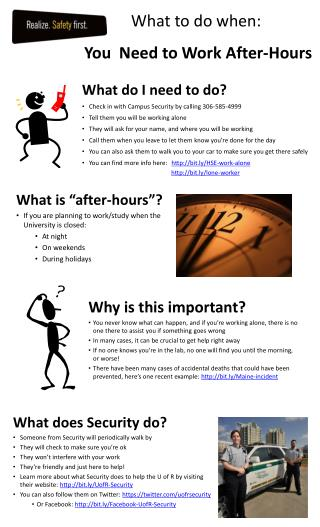 What to do when: You  Need to Work After-Hours