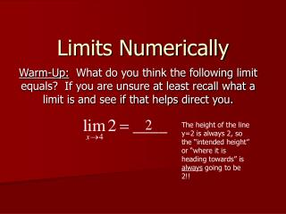 Limits Numerically