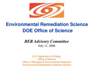 Environmental Remediation Science  DOE Office of Science
