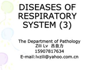 DISEASES OF  RESPIRATORY SYSTEM (3)