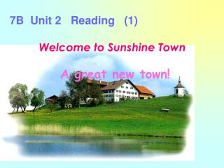 Welcome to Sunshine Town