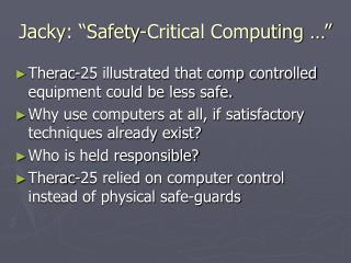 "Jacky: ""Safety-Critical Computing …"""