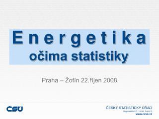E n e r g e t i k a očima statistiky