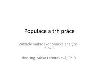 Populace a trh práce