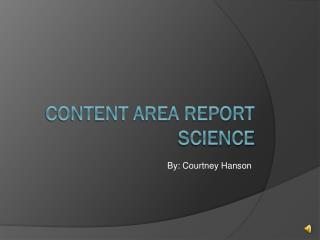 Content Area Report Science