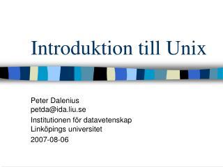 Introduktion till Unix