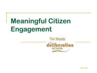 Meaningful Citizen Engagement