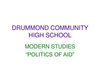 DRUMMOND COMMUNITY HIGH SCHOOL