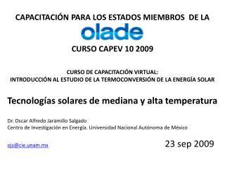 CAPACITACI N PARA LOS ESTADOS MIEMBROS  DE LA   CURSO CAPEV 10 2009