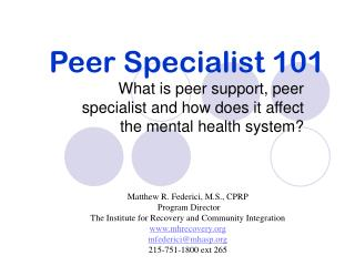 ppt peer recovery support services powerpoint