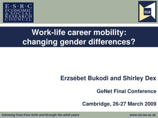 Work-life career mobility:  changing gender differences?