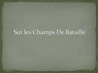 Sur  l es Champs De Bataille