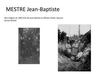 MESTRE Jean-Baptiste