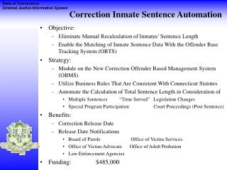 Correction Inmate Sentence Automation