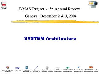 F-MAN Project  -  3 nd  Annual Review