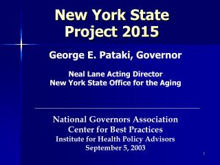 New York State Project 2015