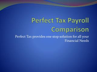 Perfect Tax Payroll Comparison