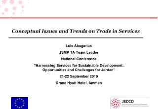 Conceptual Issues and Trends on Trade in Services