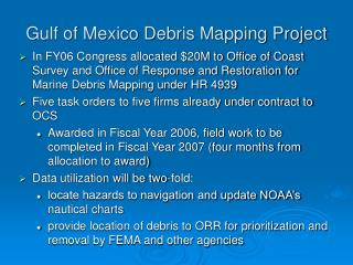 Gulf of Mexico Debris Mapping Project
