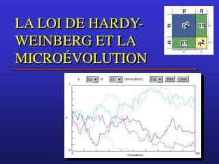 LA LOI DE HARDY-WEINBERG ET LA MICROÉVOLUTION
