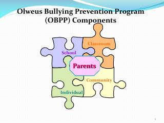 Olweus  Bullying Prevention  Program (OBPP)  Components