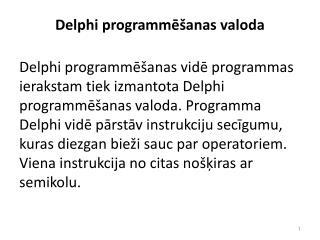 Delphi programm?�anas valoda