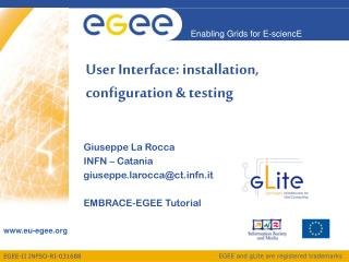 User Interface: installation, configuration & testing