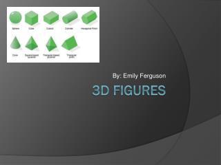 3D figures