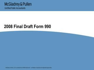 2008 Final Draft Form 990